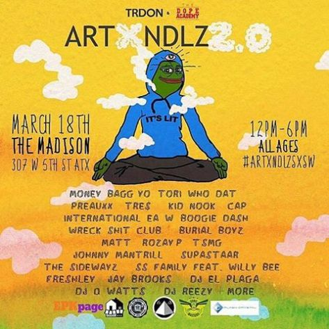 SXSW 2016, TRDON, The Dope Academy, Art x NDLZ 2.0,