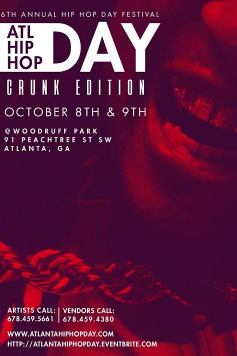 Flyer for ATL Hip Hop Day Festival