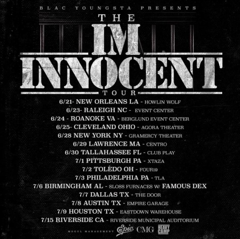 I'm Innocent Tour CMG Blac Youngsta Heavy Camp