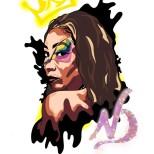 animated graphic of singer Nesha Deshaun