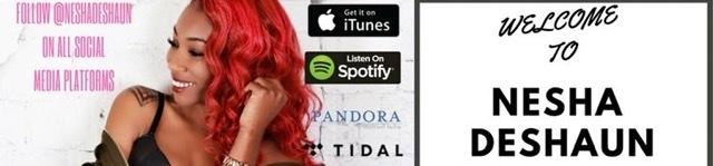 Female singer with red hair on social media campaign flyer Nesha Deshaun