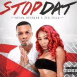 female singer with red hair and black male rapper stop dat single