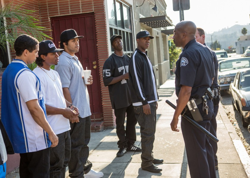 nwa gets harassed by cops as depicted in movie straight outta compton